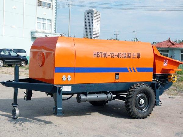 HBT40 điện trailer bơm bê tông