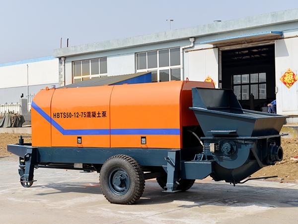 Máy bơm bê tông trailer điện HBT50