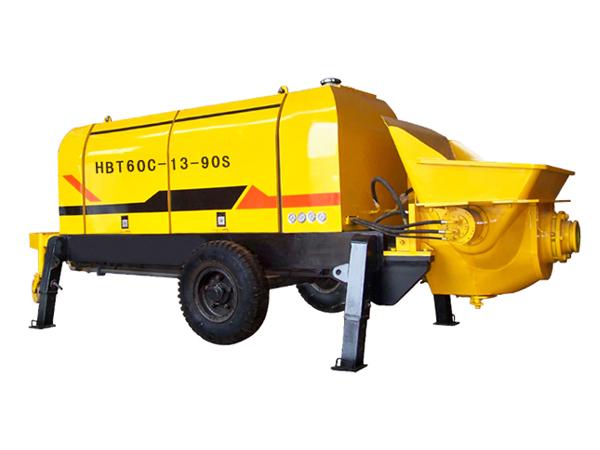 HBT60 điện trailer bơm bê tông
