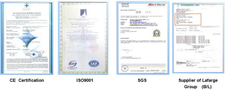Giấy chứng nhận của Aimix Group