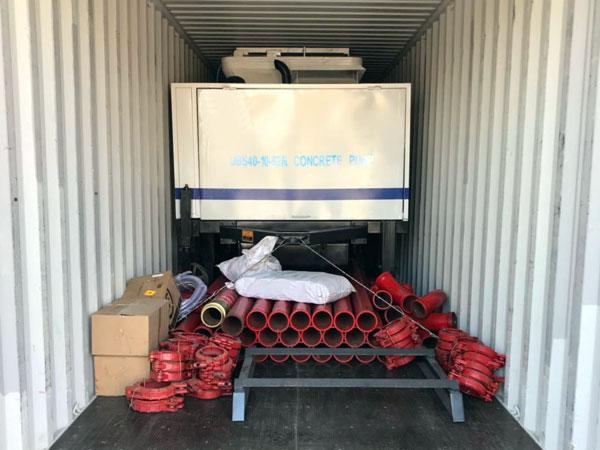 Xuất khẩu máy bơm bê tông sang Ecuador