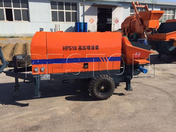 cement mortar concrete pumping machine