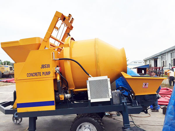 concrete mixer with pump was sent to Russia