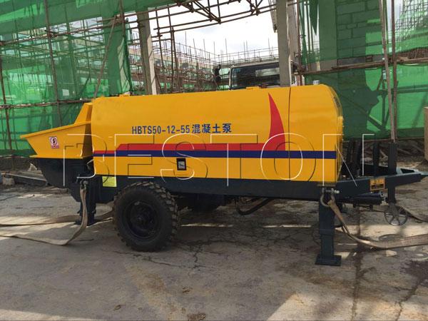 concrete pump in the construction site