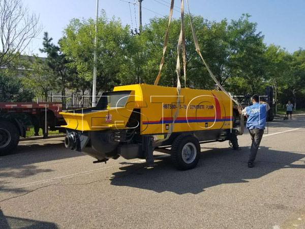 delivery of ready mix pump