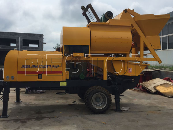 forced concrete mixer pump