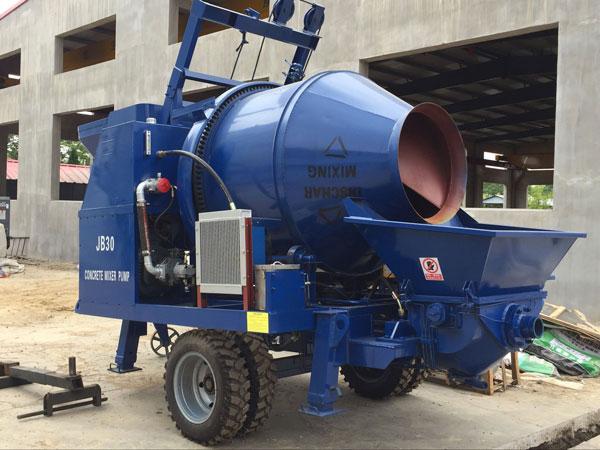concrete pump machine is skillful in