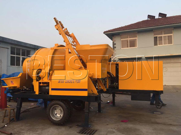 popular concrete puming machine with mixer