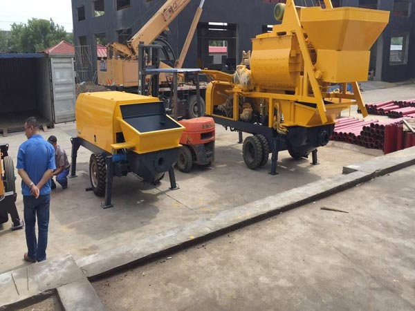 concrete mixer pump delivered to Vietnam