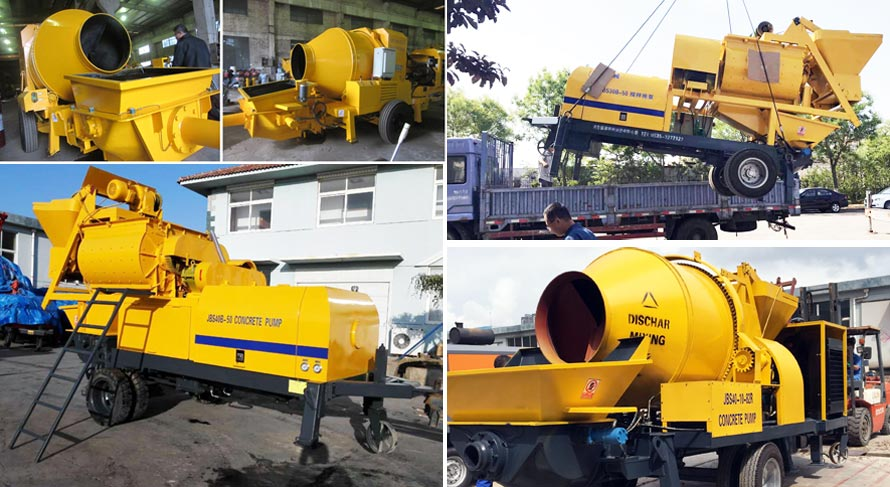 Beston Concrete Mixer Pumps Were Exported To The World