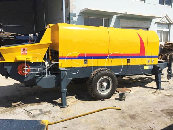 Delivering Trailer Mounted Pump to Russia