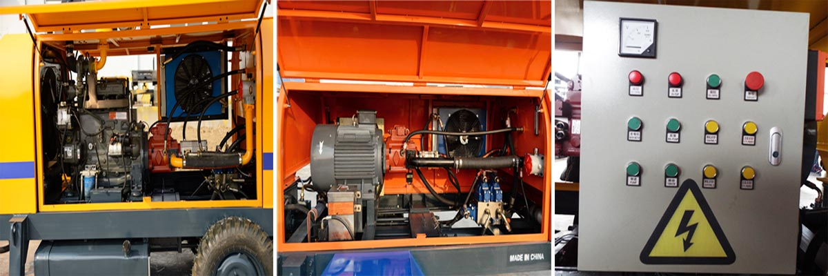 Electric Control System of Trailer Pump