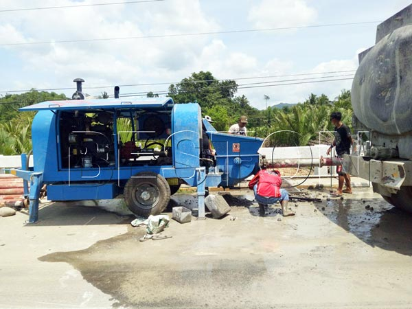 Portable cement pump in rural and urban areas
