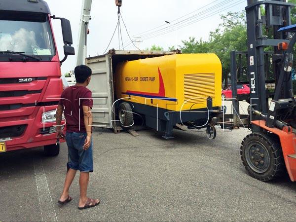 Shipping Trailer Pump to Vietnam