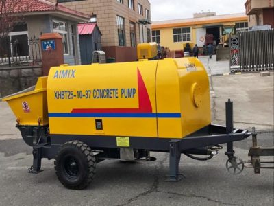 Electric Fine Aggregate Concrete Pump