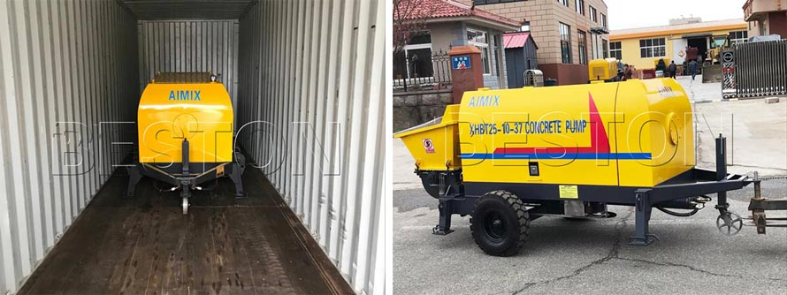 Electric Fine Aggregate Concrete Pump Was Exported to Russia