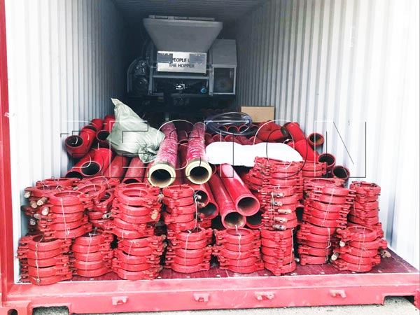 delivery of electric engine concrete pump