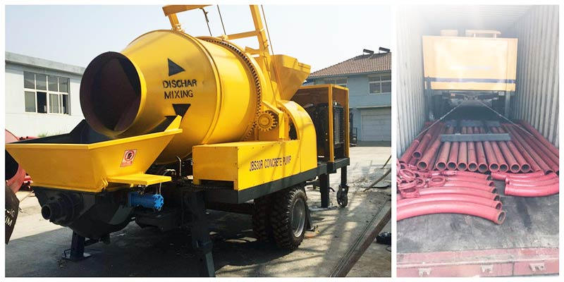 Aimix Concrete Mixer Pump Was Delivered to Singapore