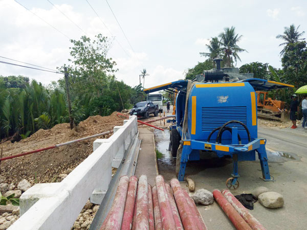 Concrete Trailer Pump Work in Philippines