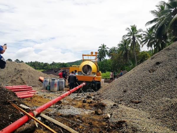 Насос для смешивания бетона на Филиппинах