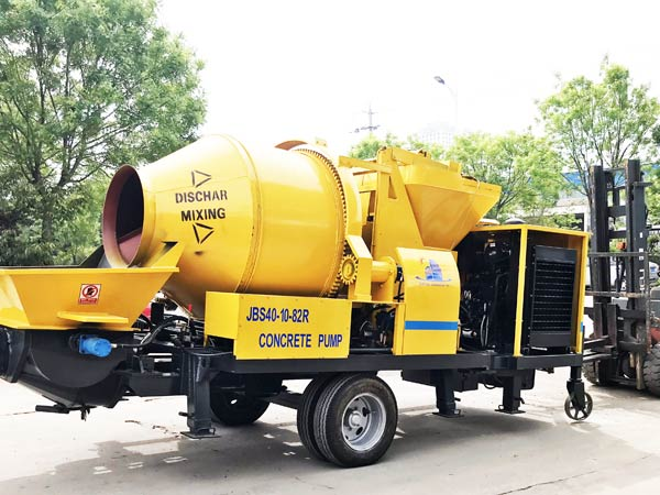 Diesel Portable Concrete Mixer and Pump