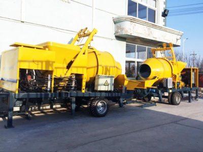 diesel concrete mixer and pump