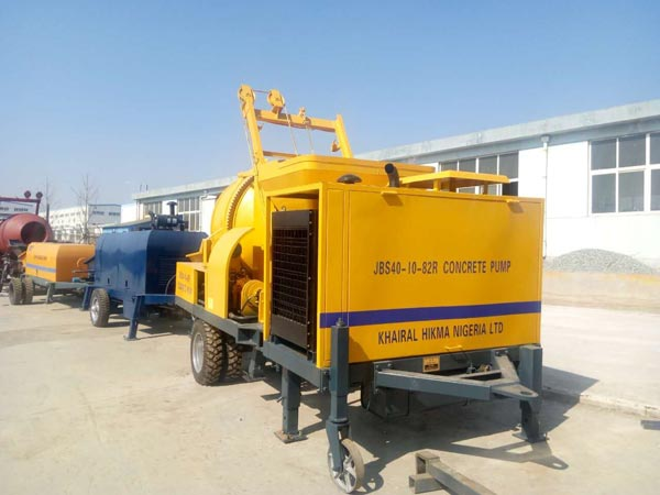 diesel engine concrete mixer pump