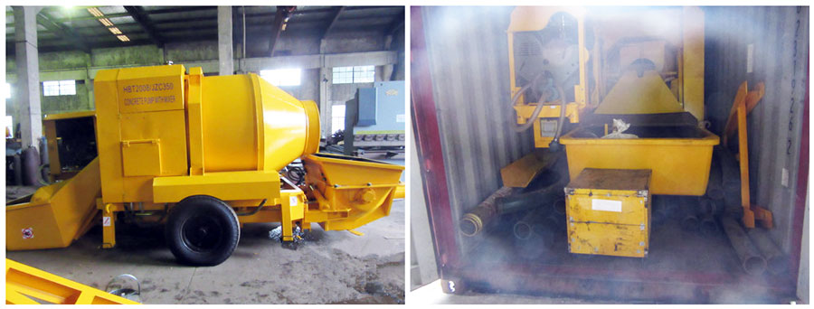 exporting diesel concrete pump to Columbia