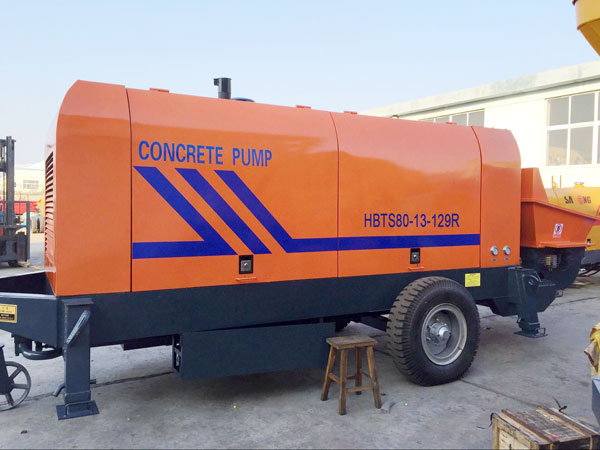 HBTS80 diesel ready mix concrete pump