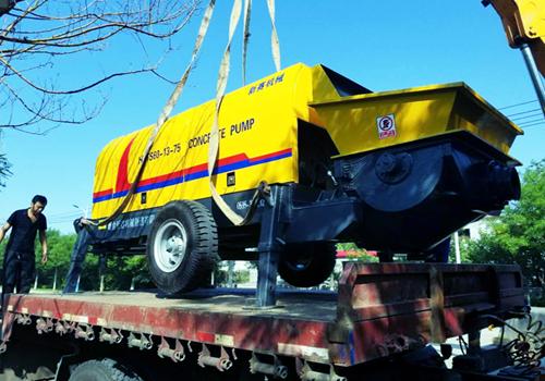 pengiriman pompa beton