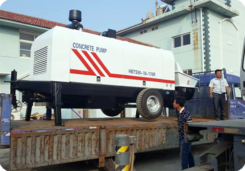 exporting concrete pump