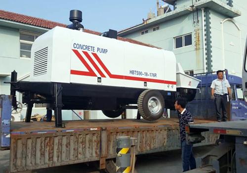 mengekspor concrete pump