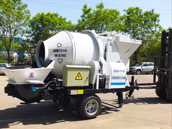 JBS40 small concrete mixer and pump