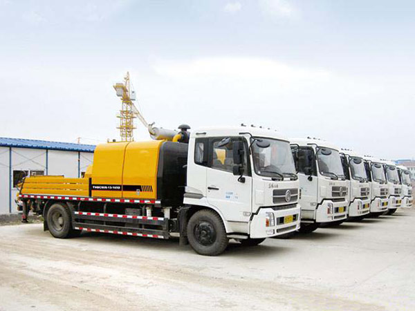 Truck-mounted Concrete Pumps in Aimix