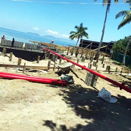 pumping concrete in Fiji
