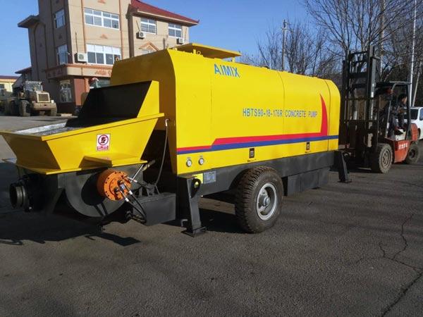 HBT90R diesel engine concrete pump