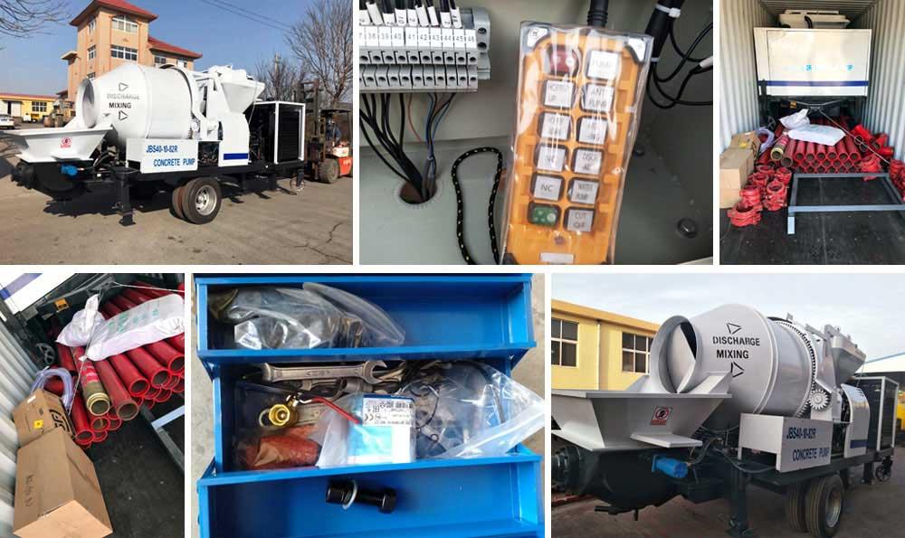 Delivering Concrete Mixer Pump to Ecuador