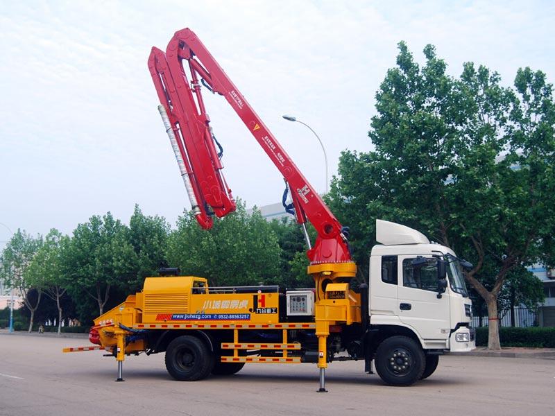concrete pump machine truck