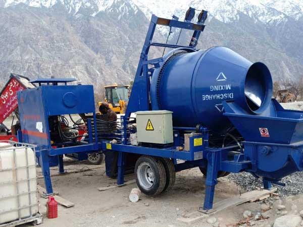 testing diesel concrete pump