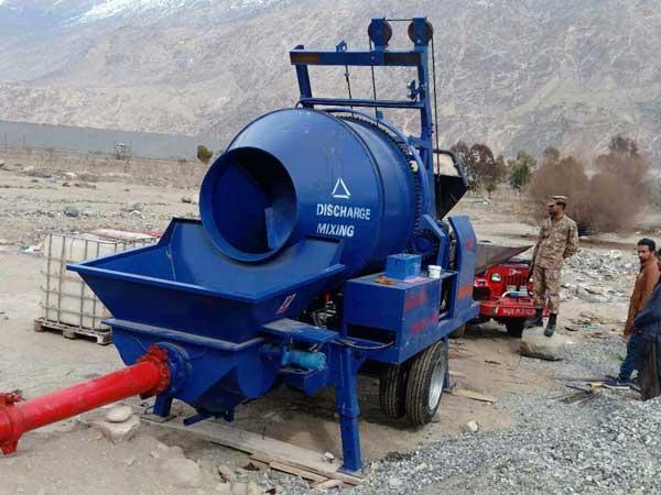 бетоносмесительный насос в Пакистане