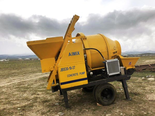 electric concrete mixer and pump