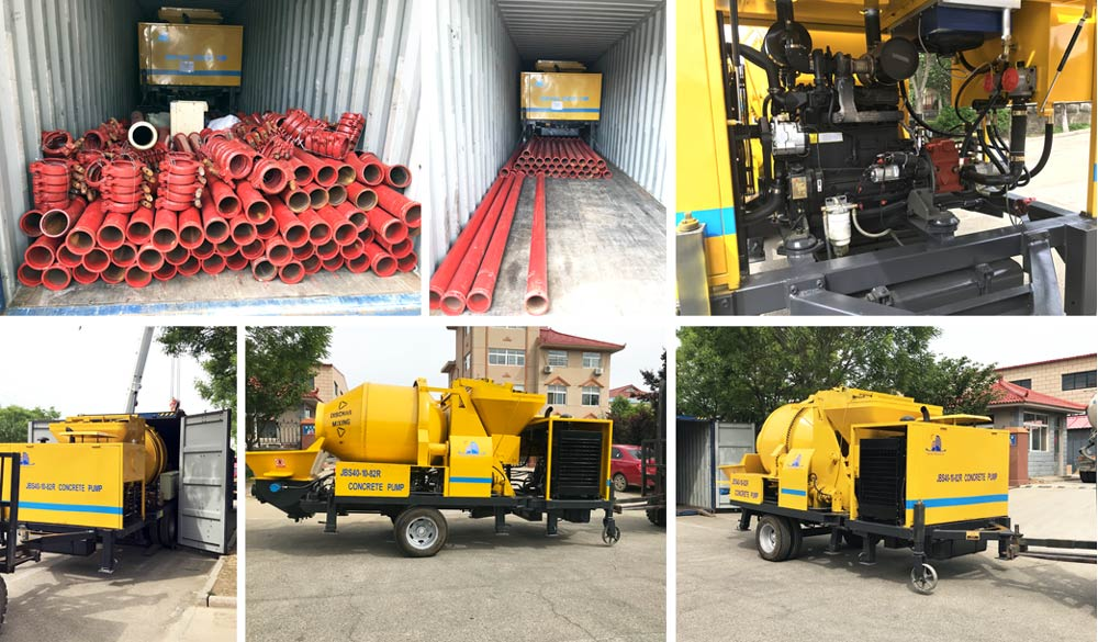 Exorting JBS40R Concrete Mixer Pump to The Philippines