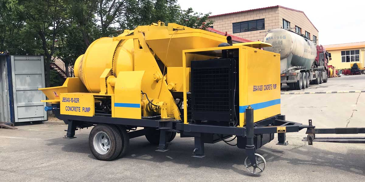 mobile concrete mixer pump for sale