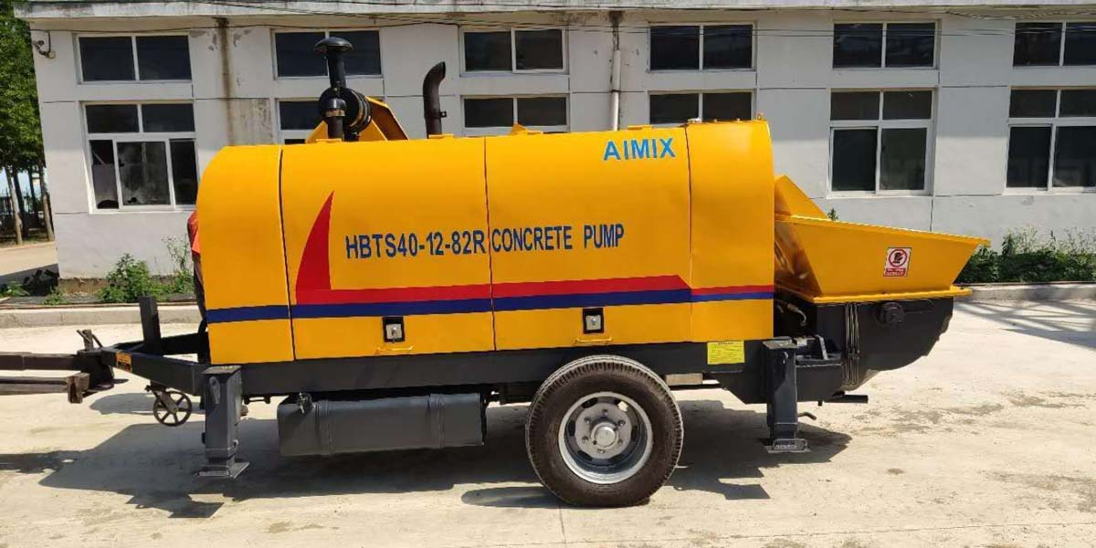 Transporting Trailer Concrete Pump to Malaysia