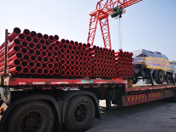 Loading Pumping Pipes