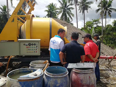 Debugging Concrete Mixer with Pump