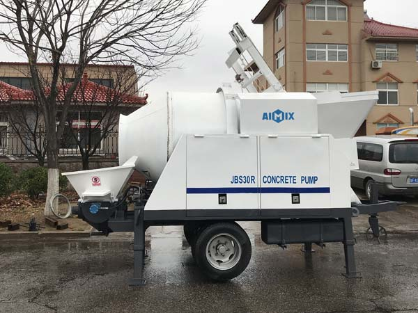 ABJZ30C Diesel Portable Concrete Mixer Pump
