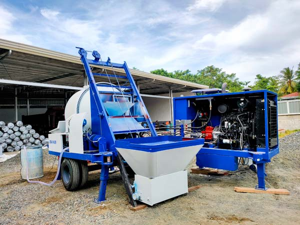 ABJZ40C Diesel Small Concrete Mixer Pump