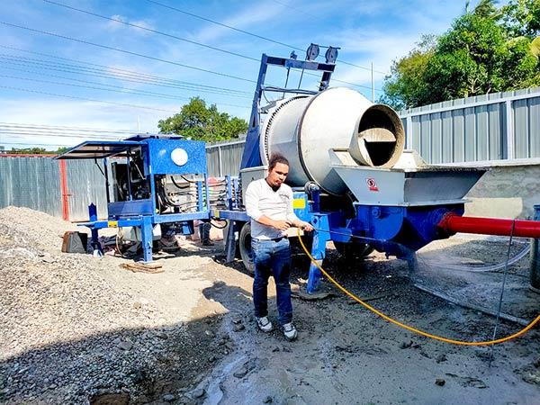 Concrete Mixer Pump Working