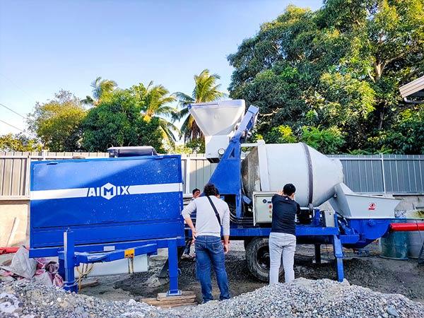 отлаживающий бетоносмесительный насос